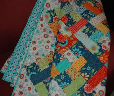 Riot in the Garden Quilt by RedTailRoadQuilts on Etsy