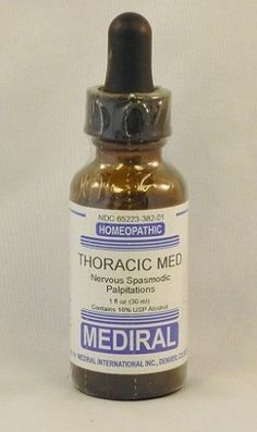 Natural Home Remedy for Nervous Spasmodic Palpations | Thoracic Med Homeopathic (1 fl oz) by Mediral  www.eVitaminMarket.com