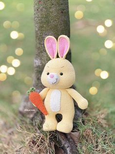 Rabbit Toys, Bunny Toys, Crochet Bunny, Crochet Animals, Free Pattern, Etsy Seller, Crochet Patterns, Teddy Bear, Christmas Ornaments
