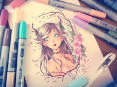★ [DEER GIRL] - Copic Coloring