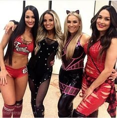 The Bella Twins Nattie Neidhardt and Trish Stratus