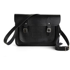 The Cambridge Satchel Company Upwardly Mobile Satchel in Black Croc -... ($187) ❤ liked on Polyvore