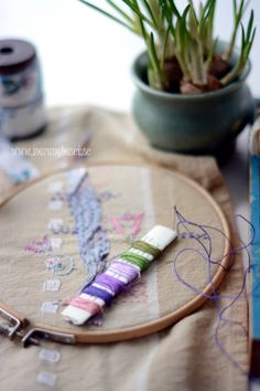 Vintage Cotton Thread  Handpicked Stitching Kit   by Maranghouse