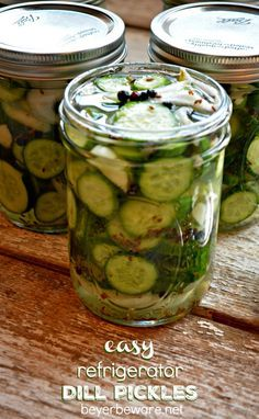 These easy refrigerator dill pickles are quick to make and will disappear out of your fridge just as fast. These easy refrigerator dill pickles are quick to make and will disappear out of your fridge just as fast. Refrigerator Pickle Recipes, Refrigerator Dill Pickles, Yellow Squash Recipes, Pickle Vodka, Pickle Jars, How To Make Pickles, Canning Pickles, Pickling Cucumbers, How To Pickle Cucumbers
