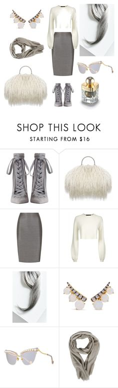 """""""Silver unicorn"""" by jenna-hanssen ❤ liked on Polyvore featuring beauty, Zimmermann, MaxMara, Jaeger, Lime Crime, Jemma Wynne, Anna-Karin Karlsson, Rick Owens and Shanghai Tang"""