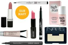 Get the look for Julia Roberts, Jennifer Lawrence and Taylor Swift. Get the best #beauty products for pink lips, black eyeliner and highlighted brows