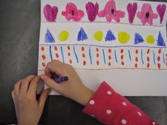 Kinder is creating amazing patterns that will be transformed from two dimensional pieces of paper into three dimensional sculptures!    ...