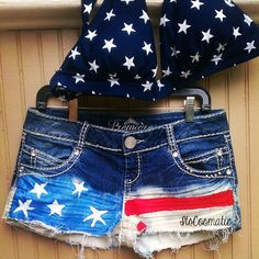 DIY flag shorts