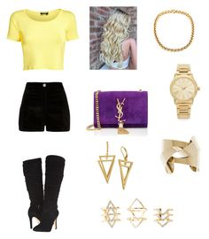 """""""Untitled #106"""" by haterz18 on Polyvore featuring Pilot, River Island, GUESS, Yves Saint Laurent, Michael Kors, Charlotte Russe, women's clothing, women, female and woman"""