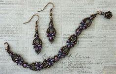 Linda's Crafty Inspirations: Bracelet of the Day: Elinor Bracelet - Purple & Olivine