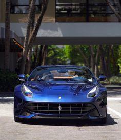 Ferrari F12 Berlinetta painted in Tour De France Blue  Photo taken by: @automotivelifestyle247 on Instagram