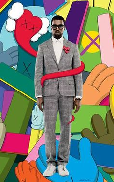 KAWS: Kaws teams up with my favorite rapper, Kanye West, for this design to promote Kanye's album 808s and Heartbreak. Great Colors and cool combination between illustrative and photographic elements.