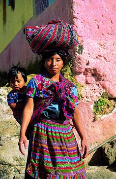 Mayan mother and child, Chichicastenango Market, Guatemala