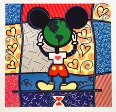 Love me some Romero Britto & Mickey. Art Disney, Disney Kunst, Disney Mickey, Graffiti Painting, Graffiti Art, Rock Painting, Pop Art, Mickey Mouse, Tableau Design