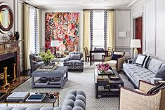 Graceful Stylish Living Room Designs – Home Interior and Design Living Room Grey, Living Room Furniture, Living Room Decor, Lounge Design, Lounge Decor, Sofa Design, Design Design, News Design, Architectural Digest