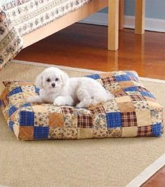 Free pattern to make a patchwork dog bed sewing pattern