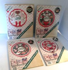 Apple Bits Cut and Paste Christmas Kits Lot of by RetroExchange