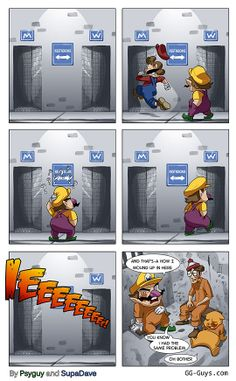 ' uploaded by Memedroid: the best site to see, rate and share funny memes! Video Game Logic, Video Games Funny, Funny Games, Mario Funny, Mario Memes, Stupid Funny Memes, Haha Funny, Hilarious, Funny Stuff