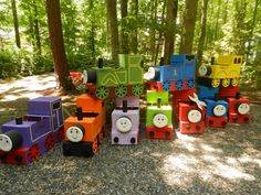 Thomas the Train costume by ParkersPartyProps on Etsy, $40.00
