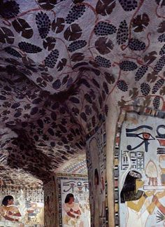 "Tomb of Sennefer (TT96) sometimes known as the ""Tomb of the Vineyards"" due to its decoration. Sennefer's tittles, shown on the walls of his tomb, are varied, but the main one attached to his name is that of Mayor of Thebes."