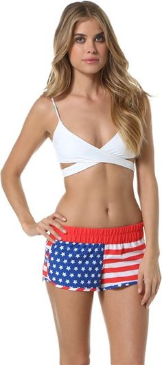 HURLEY PHANTOM BLOCK PARTY BEACHRIDER BOARDSHORT  Spring Womens  Americana | Swell.com perfect for 4th of july swimming :)