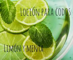 MyEcoBeauty: Loción para codos (con limón y menta)