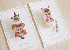 〈クリスマス〉砂糖菓子のネコ/Brooch
