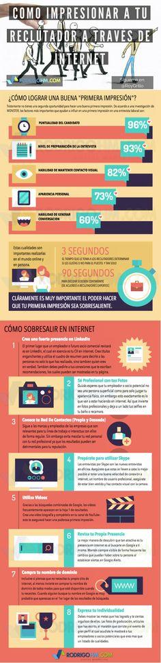 Cómo impresionar al Reclutador con Internet #infografía