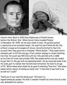BREAKING NEWS - Simo Hayha The White Death - His notebook was just found by a relative and the kills are now confirmed. August the 13th 2017