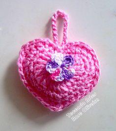 Tecendo Artes em Crochet: Coraçãozinhos Perfumados