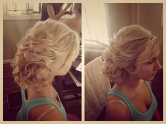 Hair by Michelle Surgent of #pinkcomb #weddinghair #hair #updo #alldown #bridesmaid #beautiful #makeup #bridal #bridalbeauty #michellesurgent #nj #newjersey #njbride #blonde #extensions