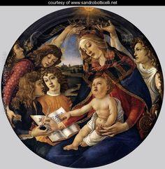 Madonna of the Magnificat (Madonna del Magnificat) 1480-81 - Sandro Botticelli (Alessandro Filipepi) - www.sandrobotticelli.net