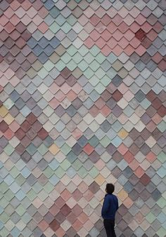 autumnal pastel Scale shingles facade - Yardhouse by Assemble | Yellowtrace