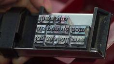 tipos móviles - imprenta