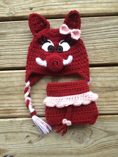 Hey, I found this really awesome Etsy listing at https://www.etsy.com/listing/179020760/newborn-arkansas-razorback-crochet-baby