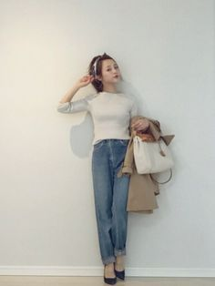 155cm以下ファッショニスタに学ぶ♡4つの着こなしポイント - Locari(ロカリ) Japanese Outfits, Street Look, Mix N Match, 155cm, Knitwear, Cool Outfits, Stylists, Normcore, Clothes For Women
