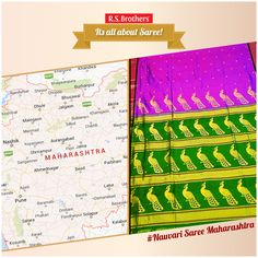 #AllAboutSaree – #Nauvari or Kaashtha Sari Nauvari Sari is a traditional Maharashtrian Sari. The # Nauvari sari is a style of sari draping is very similar to the way the #Maharashtra dhoti is worn. The word Nauvari refers to the sari being tucked at the back. Since this sari is usually worn using a single nine yard cloth.  Its nine yard long traditional sari of Marwari women. (Image copyrights belong to their respective owners)