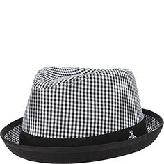 Original Penguin Mens Miramar Gingham Fedora Black SmallMedium    You can  get additional details at a7959cd06d1b