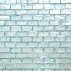 Aqua Iridescent Brick Glass Mosaic - (Pack of Create a wall feature for your bathroom remodel. Bathroom Tower, Glass Tile Bathroom, Mermaid Bathroom, Grey Backsplash, Glass Tile Backsplash, Backsplash Ideas, Tile Ideas, Stone Mosaic Tile, Mosaic Glass