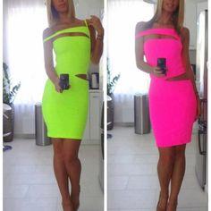 neon dresses!!!!!