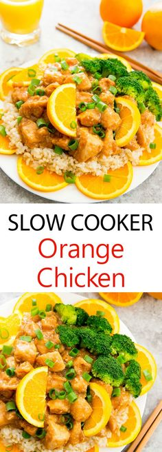 Slow Cooker Orange Chicken. An easy weeknight meal where your crockpot does most of the work!