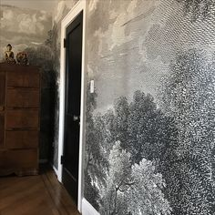 Etched Arcadia Mural. Wallpaper