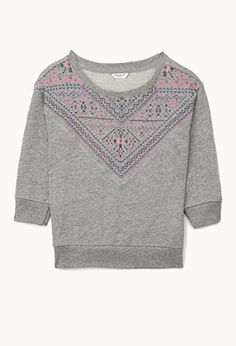 Relaxed Tribal Print Sweatshirt (Kids) | FOREVER 21 - 2073442075