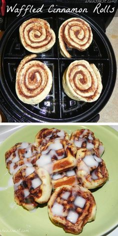 23 Things You Can Cook In A Waffle Iron | Waffle Iron Cinnamon Rolls