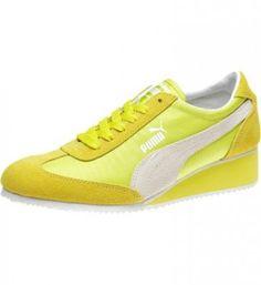 3bc30ed0d3335 Tênis Puma Women s Caroline Wedge Sneakers Fluo Yellow  Tenis  Puma