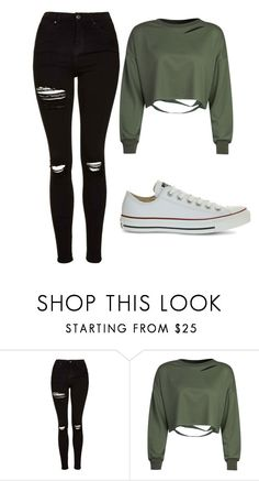 """Untitled #441"" by cuteskyiscute on Polyvore featuring Topshop, WithChic and Converse"