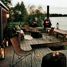 "Mood lighting! See who designed it and 11 more ""eye candy"" patios..."