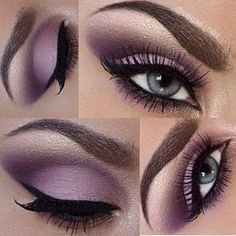 gorgeous soft purple #eyes #makeup