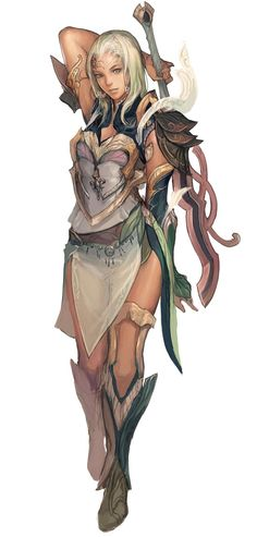 Elyos female Aion Concept Art