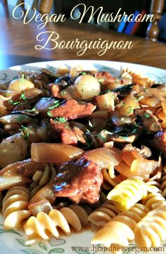 vegan mushroom bourguignon